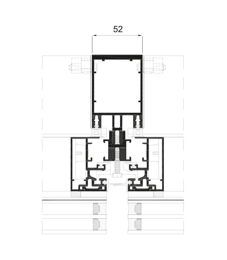 Sección del sistema Fachada ST 52