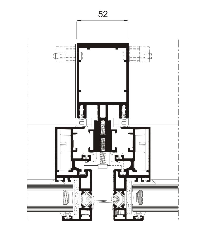 Sección del sistema Fachada SST 52