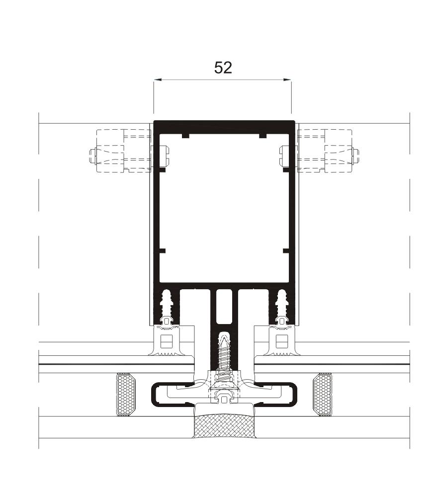 Sección del sistema Fachada SG 52