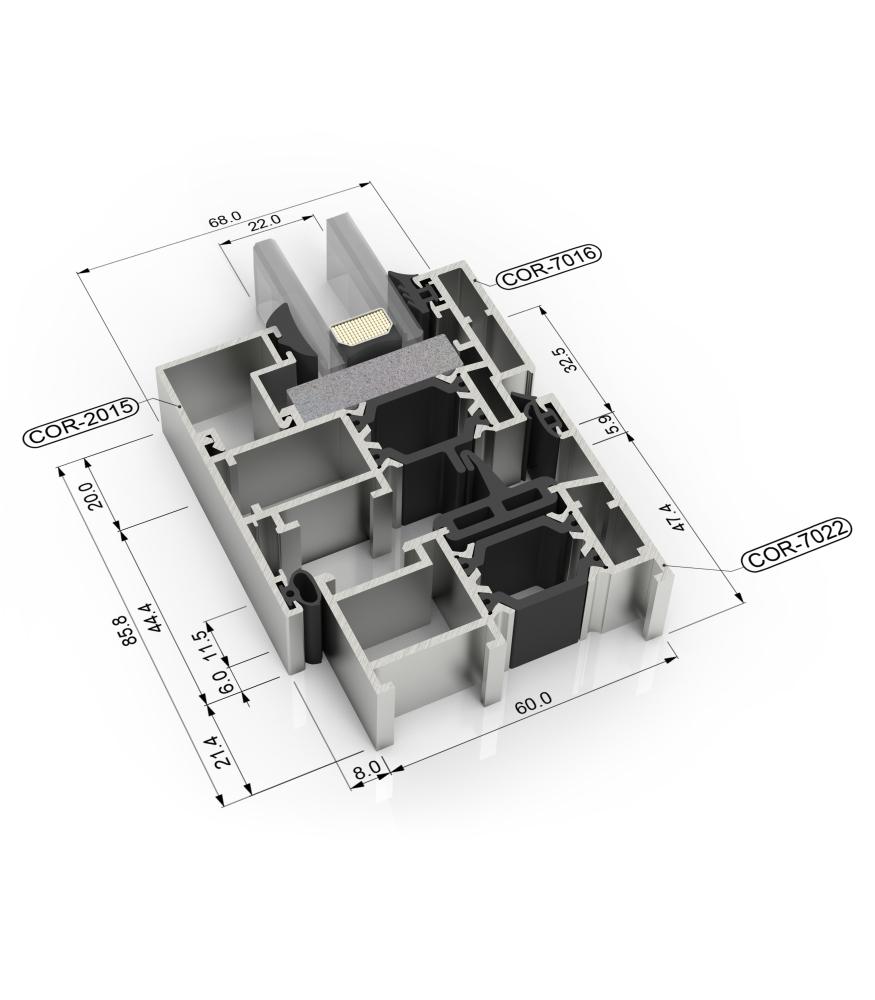 Sección del sistema Cor 60 RPT